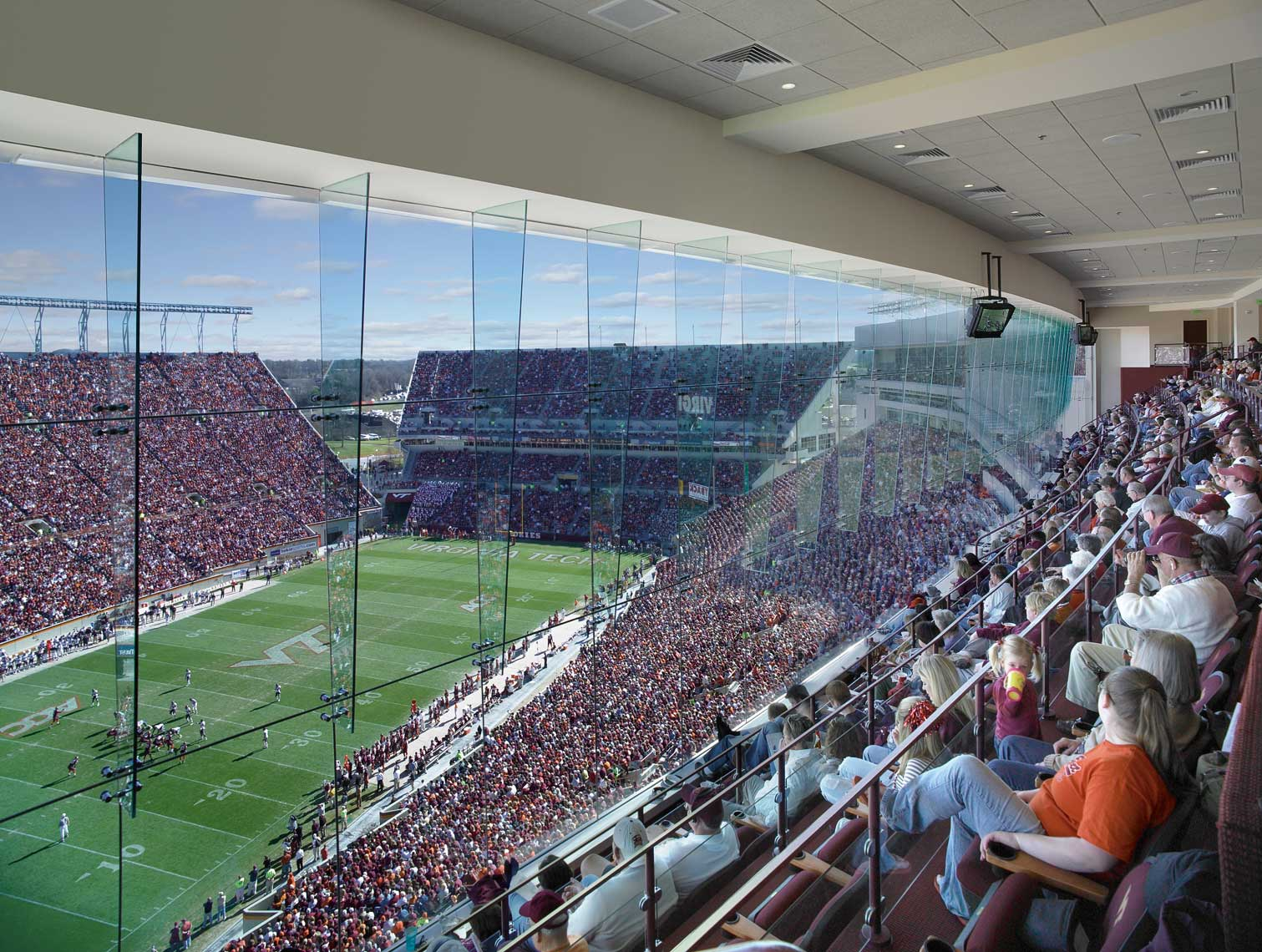 Virginia Tech Lane Stadium West Side Expansion