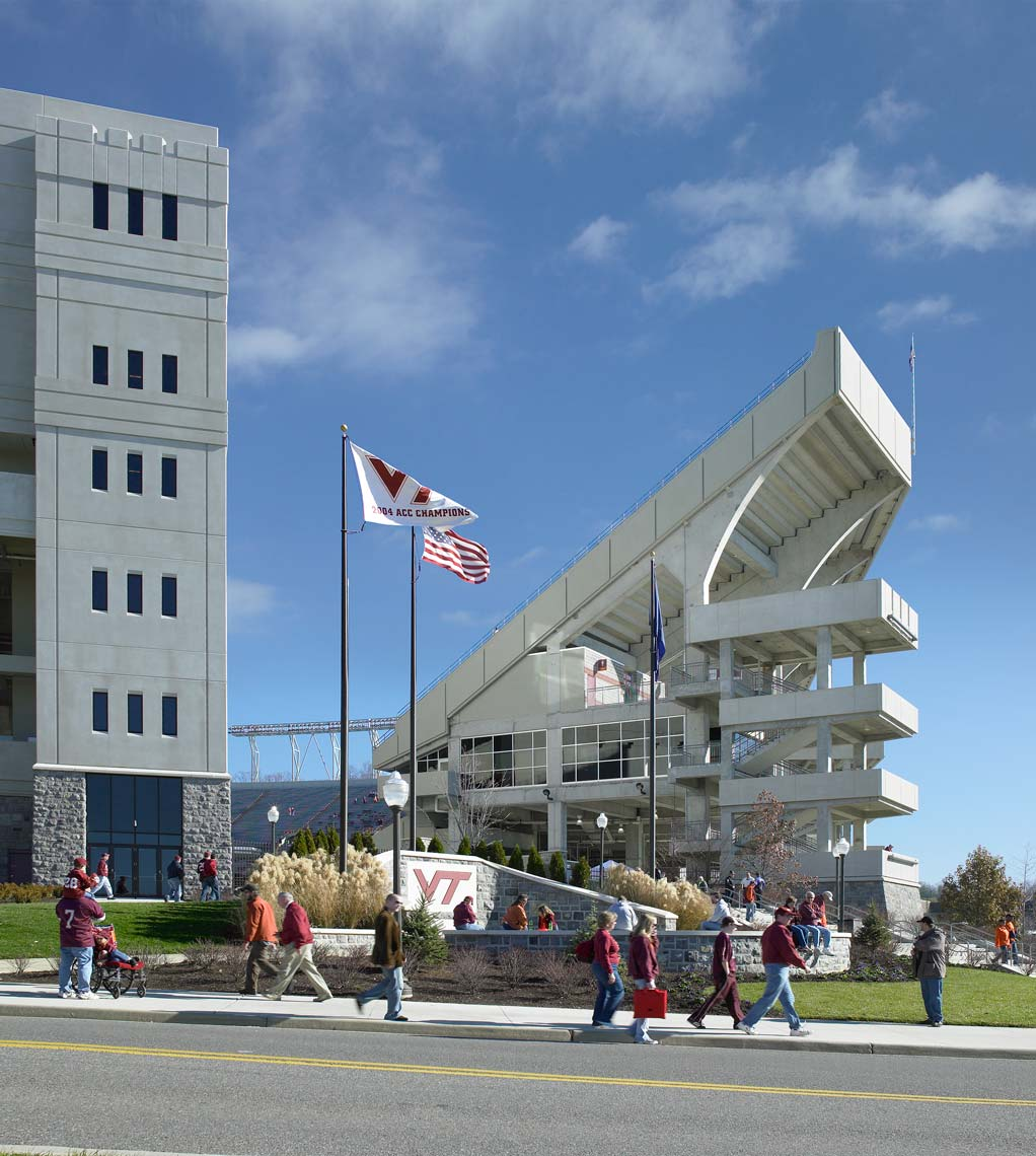 Virginia Tech Lane Stadium  | Maylone Architectural Photo