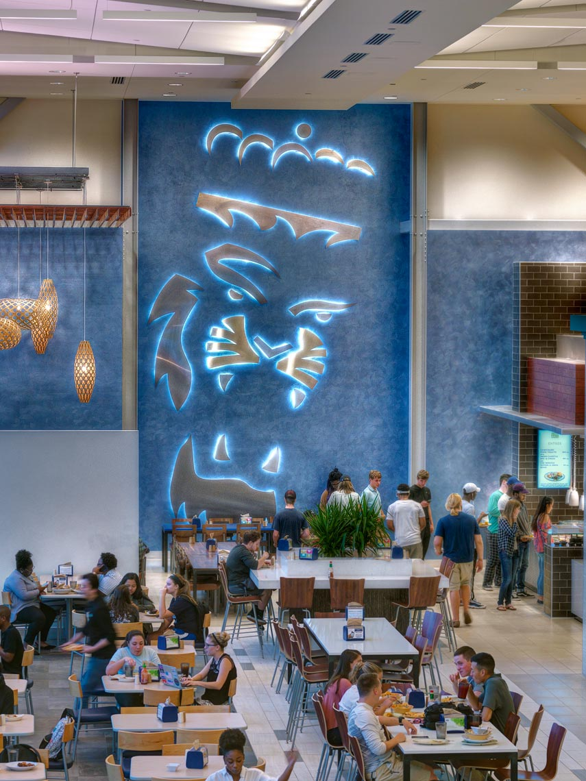 Old Dominion University Broderick Dining | Maylone Architectural Photo